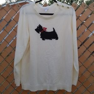 Charter Club Sweaters - CHARTER CLUB Scottish Terrier Holiday Sweater